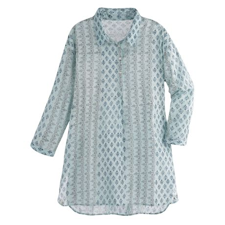 Cool Mint Long Shirted Tunic
