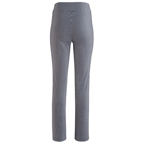 Pull-On Ankle Black And White Pattern Pant