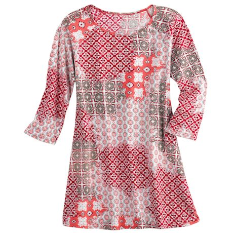 Candied Apple Abstract Tunic