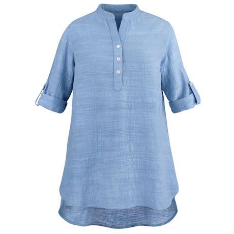 Soft Slub Big Shirt Tunic