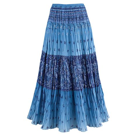 Sky Blues Maxi Skirt