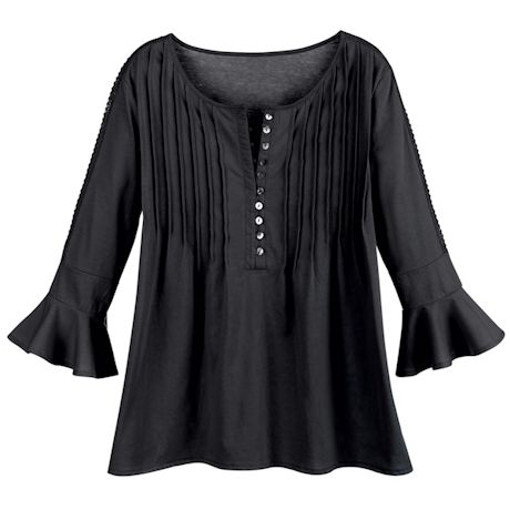 Wearever Pleated Knit Tunic