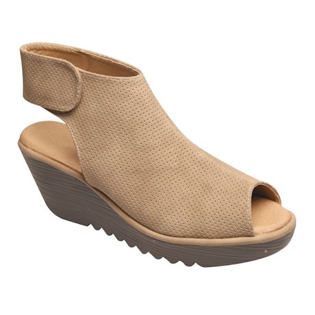 Faux Suede Feather Light Wedge