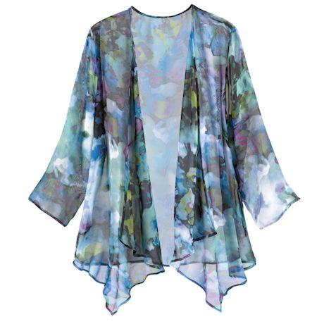 Watercolor Garden Sheer Jacket