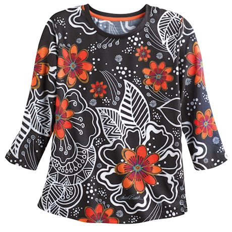 Abstract Poppies Top