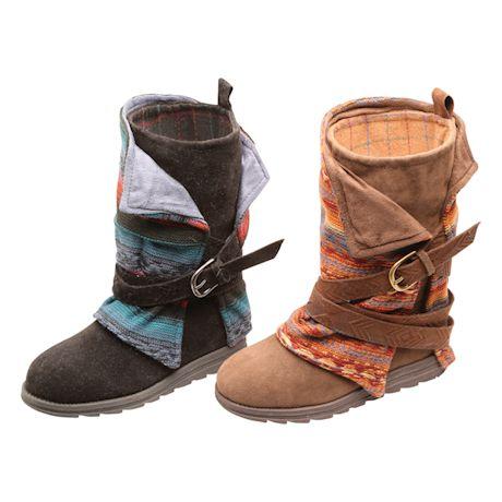 Canyon Stripe Blanket Boots