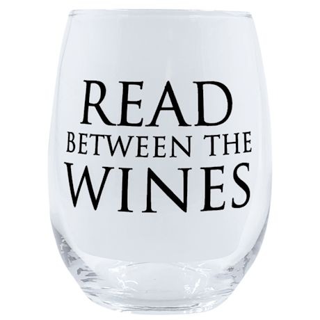 Wine Wisdom Stemless Wine Glass
