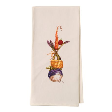 Country Critters In Hats Tea Towels - Chicken