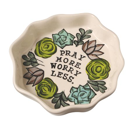 Pray More, Worry Less Trinket Tray