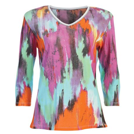 Watercolor Sky Embellished Top
