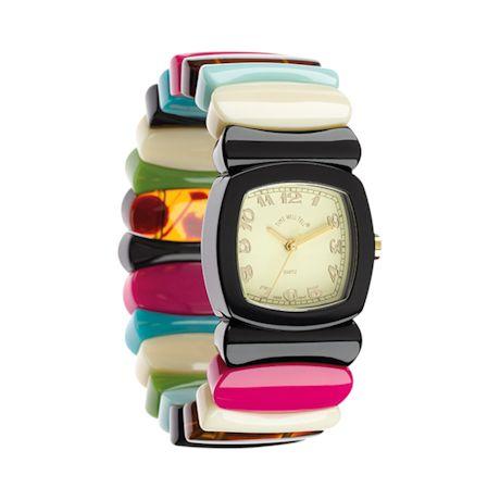 Multi-Stripe Stretch-Band Watch