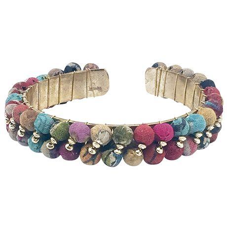 Kantha Wrapped Cuff Bracelet