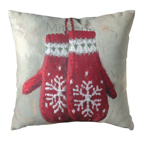 Vintage Winter Games Reversible Pillows