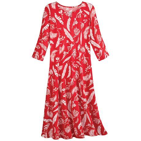 Red Ferns Dress