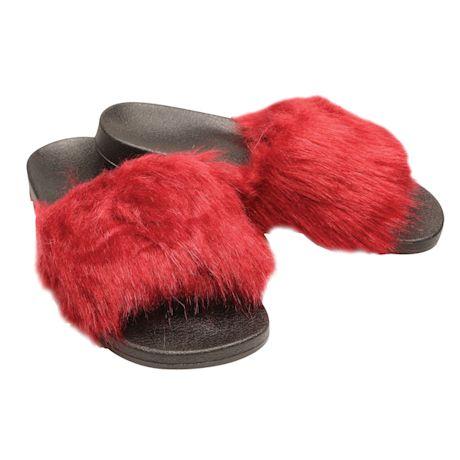 Faux Fur Spa Sandals
