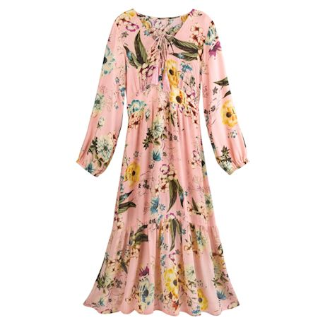 Vintage Rose Crinkle Dress