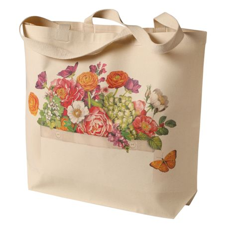 Farm Stand Flowers Tote