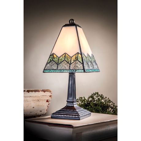 Vintage Chevron Mission Lamp