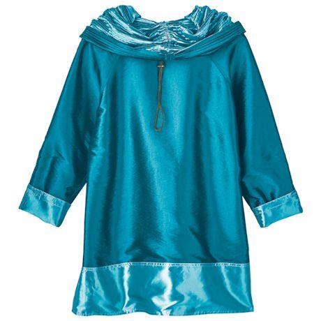 Reversible Aqua Hooded Rain Jacket