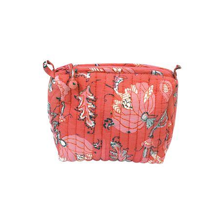 Peony Blooms Makeup Bag
