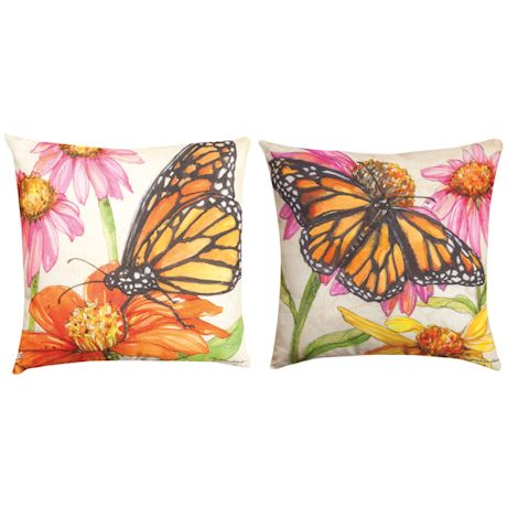 Butterfly Meadow Reversible Pillow