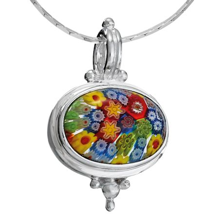 Millefiori Glass Necklace