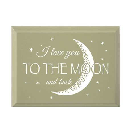 """I Love You To The Moon And Back"" Wood Plaque"