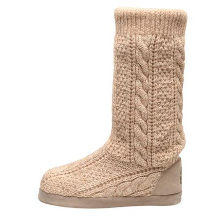 Muk Luks Women's Vanessa Knit Slipper Slouch Boots