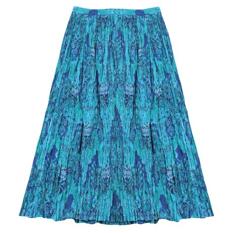 Women's Peasant Skirt - Broomstick Maxi in Blues and Purples
