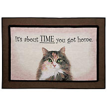 About Time You Got Home Doormat