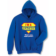 Personalized Super Power Hooded Sweatshirt