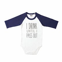 Babies With Attitude Snapsuit - Pass Out