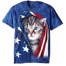 Cat & Dog American Flag Tee
