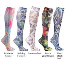 Printed Moderate Support Knee Highs