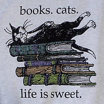 Edward Gorey Book Lover's T-Shirt - Life Is Sweet