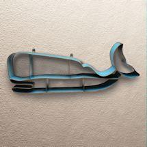 Painted Metal Whale Shelf