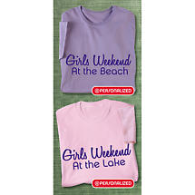 Personalized Girls Weekend Shirts