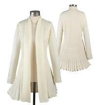 Shimmering Sweater Coat