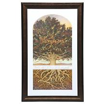Personalized Family Tree Framed Print - Small