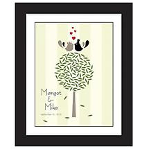 Personalized Love Birds Framed Print