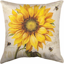 Sunflower & Bees Pillow