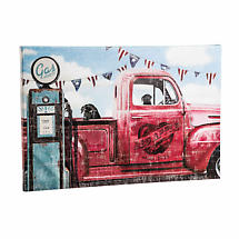 Red Apple Farm Outdoor Stretched Canvas