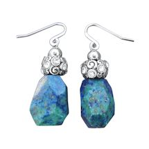 Chrysocolla Nuggets Earrings