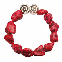 Howlite And Swirl Bead Bracelets
