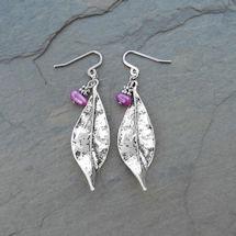 Pearl 'n Leaf Earrings