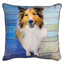 Sheltie Portrait Pillow