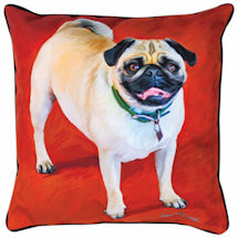 Pug Portrait Pillow