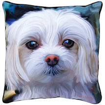 Maltese Portrait Pillow