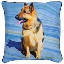 German Shepherd Portrait Pillow