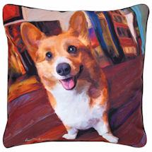 Corgi Portrait Pillow